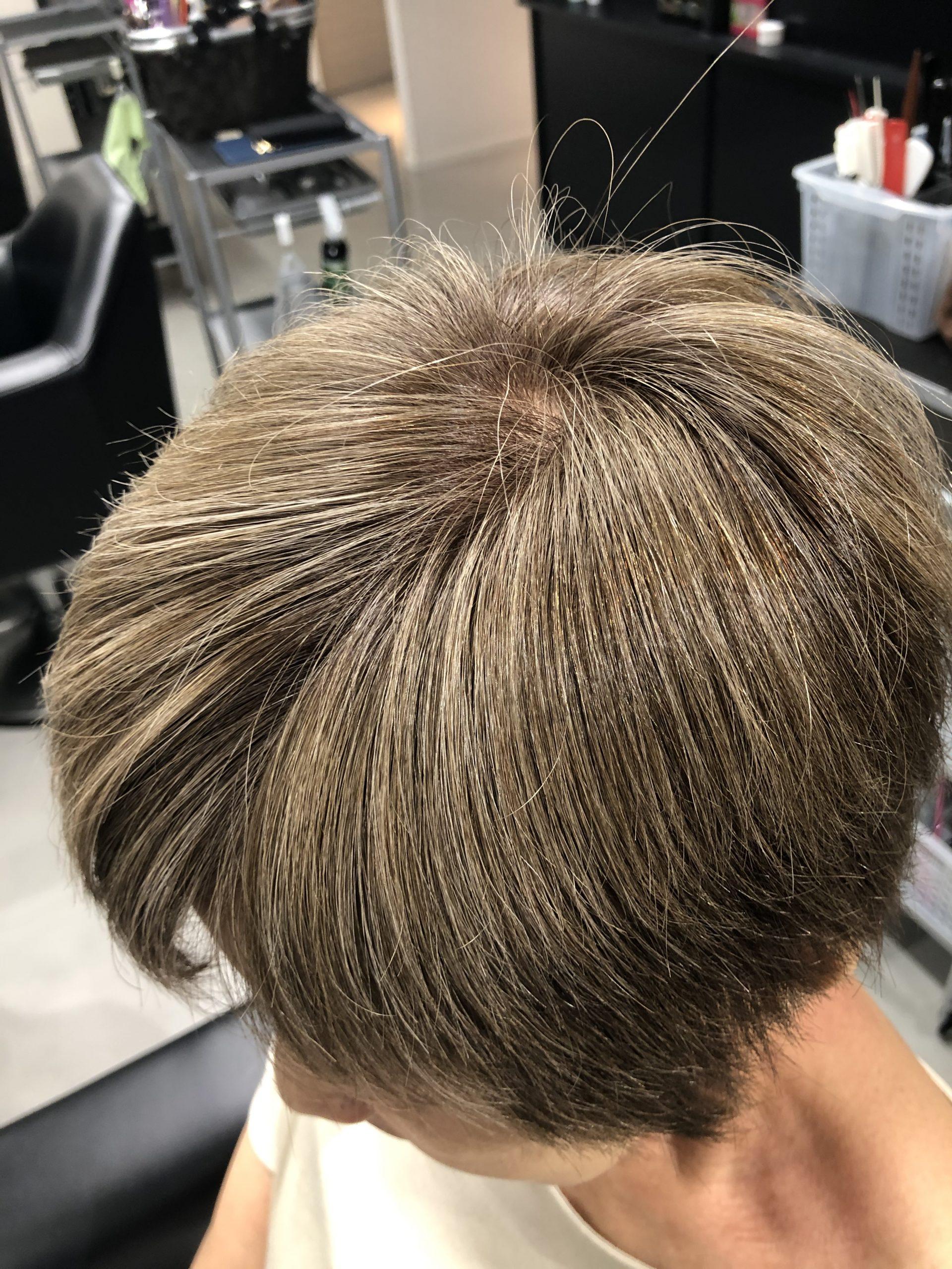 【ティントバーで白髪】ヒロインベージュ+メルティブラウンのみで白髪染めしたらどのように染まるのか?!