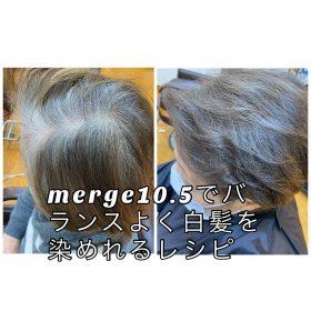 merge10.5でバランスよく白髪を染められるレシピ