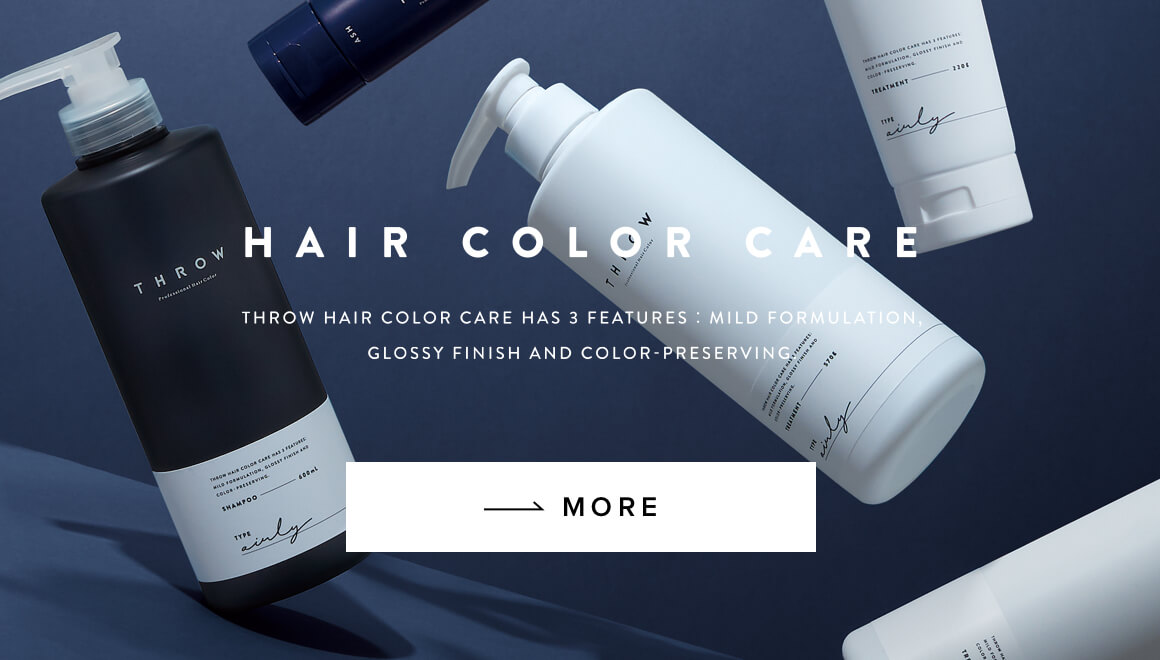 THROW HAIR COLOR CARE